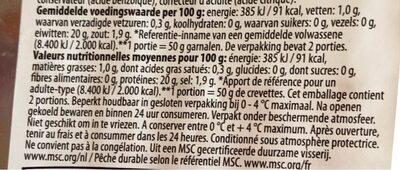 Crevettes grises - Voedingswaarden - fr