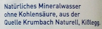 Krumbach Naturell - Inhaltsstoffe