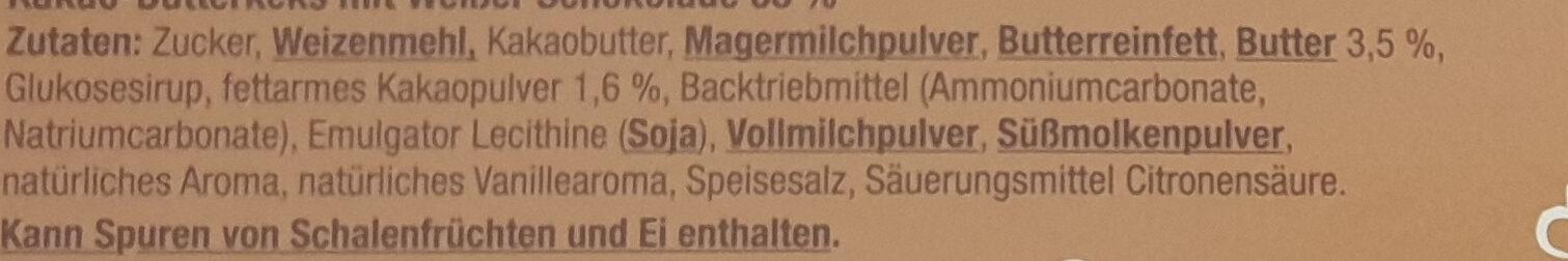 Schoko Keks Weiße Schokolade - Zutaten - de