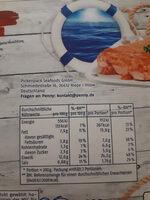 Wildlachsfilet mit Tomaten Knoblauch Sauce - Nutrition facts - de