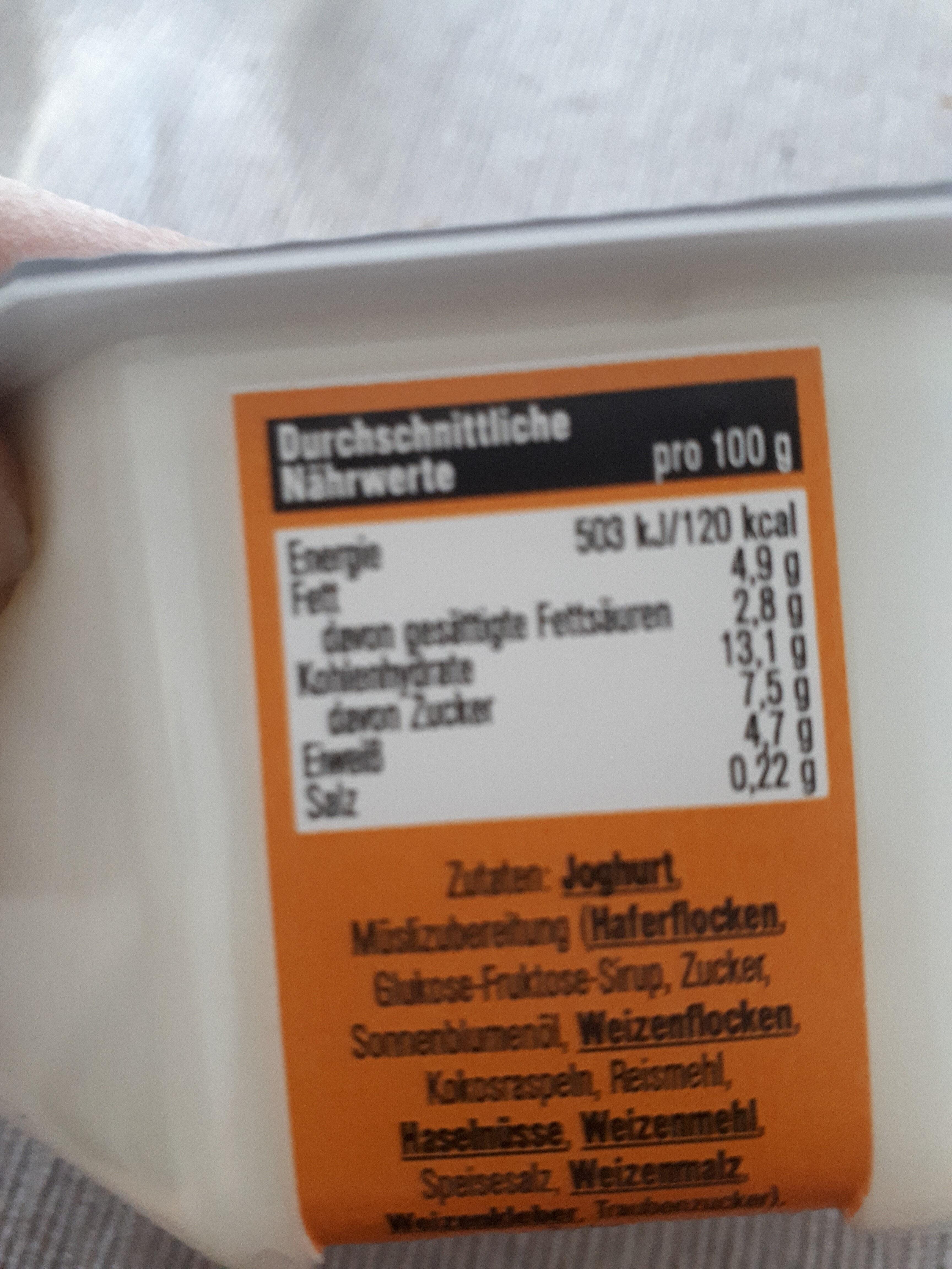 Joghurt Crisp - Nutrition facts - de