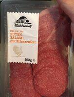 Delikatess Puten-Salami mit Pflanzenfett - Produit - de