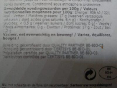 Bio Chipolata - Informations nutritionnelles - fr