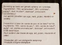 Bio haché porc bœuf - Ingredients