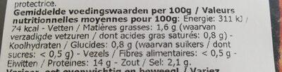 Brochette de porc marinée - Informations nutritionnelles - fr