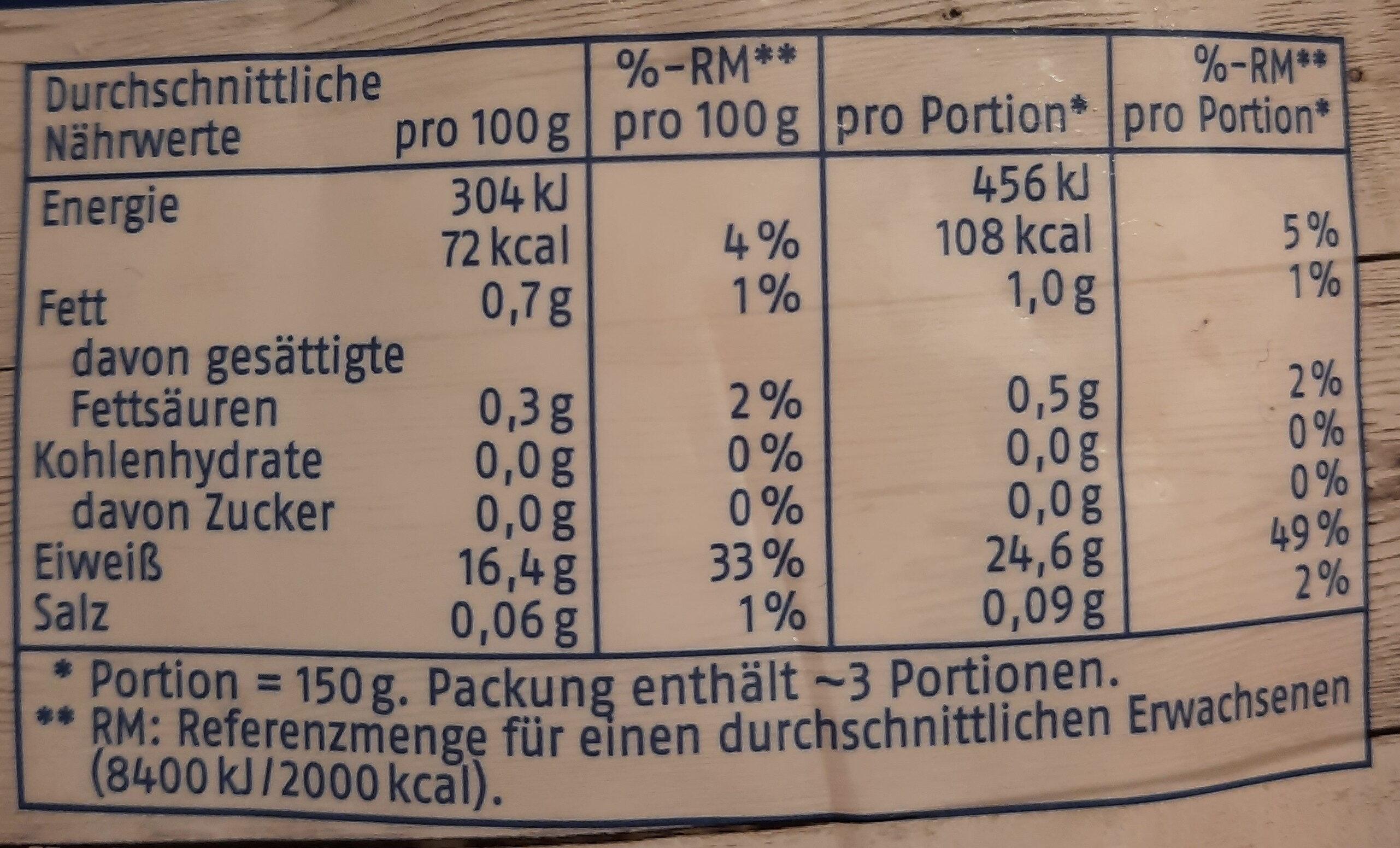 Pangasiusfilet - Ingredients - de