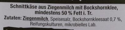 Ziegenkäse mit bockshornklee - Ingrediënten - de
