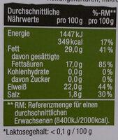 Ziegenkäse mit bockshornklee - Voedingswaarden - de