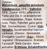 Oreshki Süsse Nüsse - Inhaltsstoffe