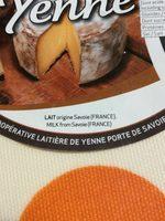 Tomme de Yenne - Ingrediënten