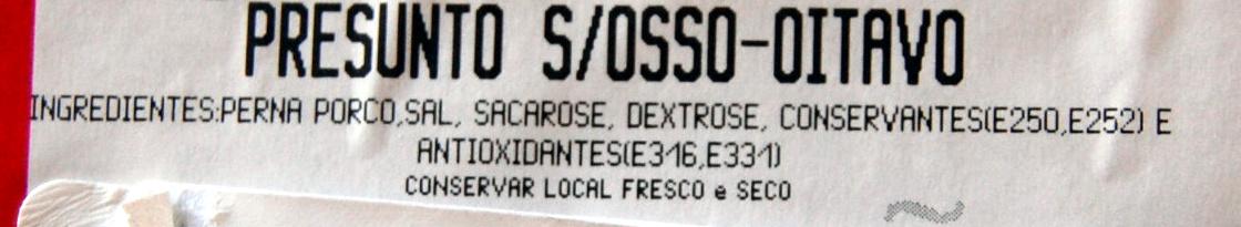 Jambon sans os - Ingredientes - pt