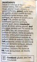 Salade repas - Ingrédients - fr