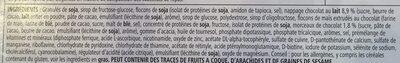 BARRETTA SOSTITUTIVO DEL PASTO GR 56 CIOCCOLATO - Ingrédients - fr