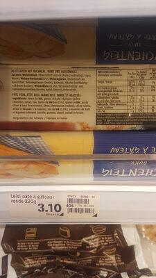 pâte feuilletée rustica - Ingredients - fr
