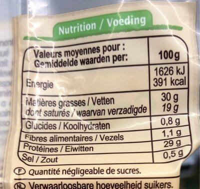 Franse Emmentaler - Informations nutritionnelles - fr