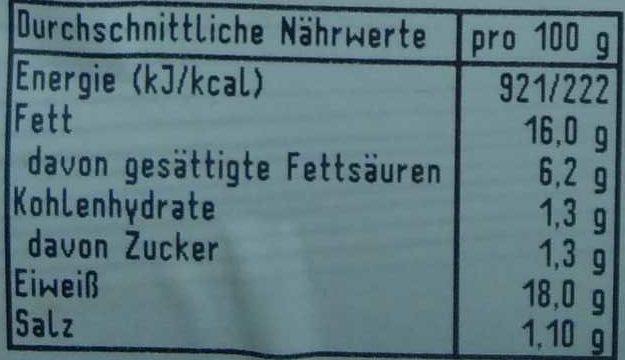 Schweine-Nackensteak - Voedingswaarden - de
