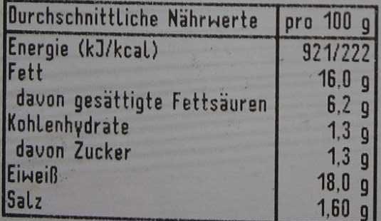 Schweine-Nackensteak mit Kräutern - Voedingswaarden - de