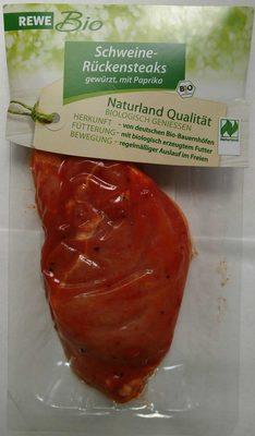 Schweinerückensteak gewürzt mit Paprika - Product