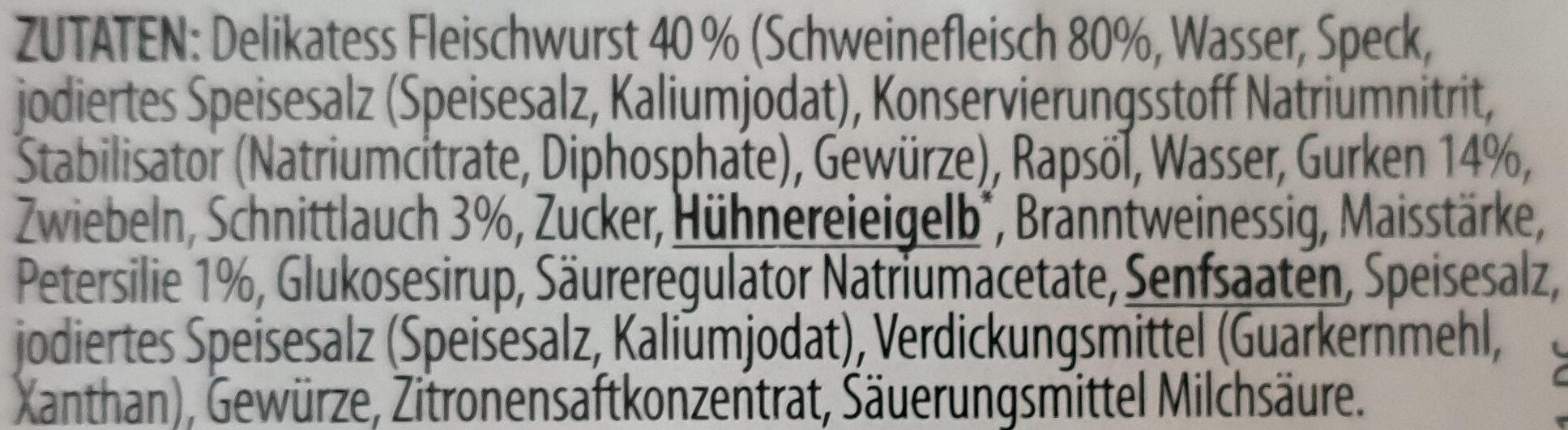 Delikatess Metzger Flesischsalat mit Kräutern - Ingredients - de
