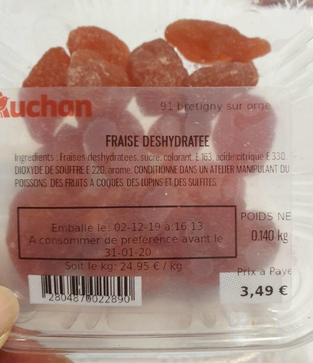 Fraise déshydratée - Informations nutritionnelles - fr