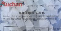 Noix de coco en cube - Ingrédients - fr