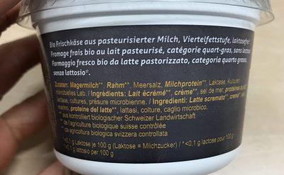 Bio Cottage Cheese - Ingredients - fr