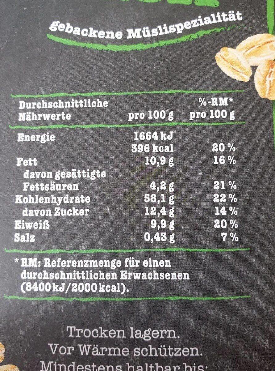 Knusper Musli - Nutrition facts - de
