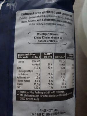 Erdnüsse geröstet & gesalzen - Ingredients - de