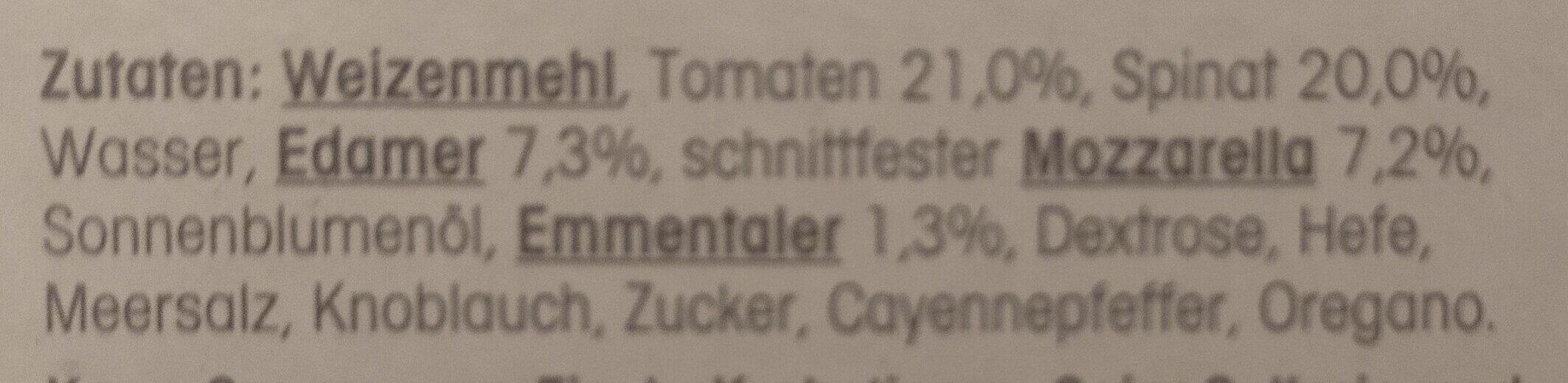 Steinofenpizza Spinacu - Zutaten - de