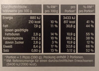 Steinofenpizza Spinacu - Nährwertangaben - de