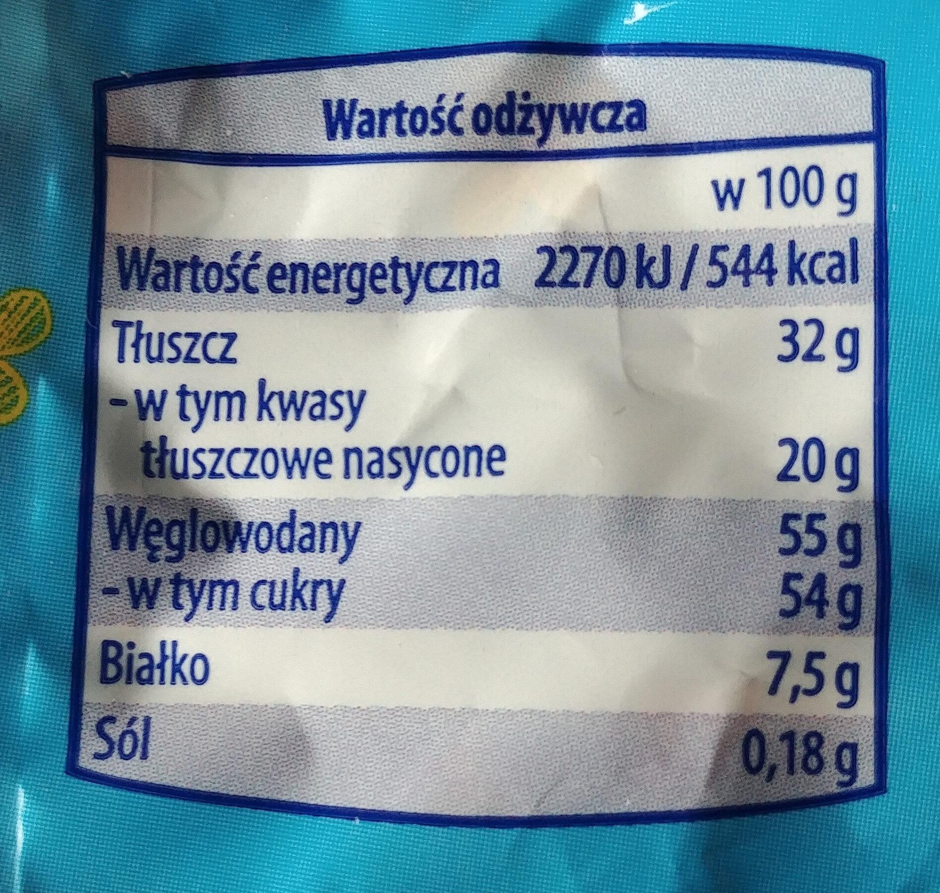 Jajeczka z czekolady mlecznej - Nutrition facts