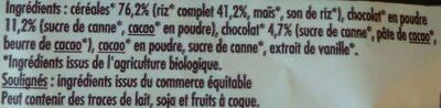 Riz soufflé choco - Ingrédients - fr