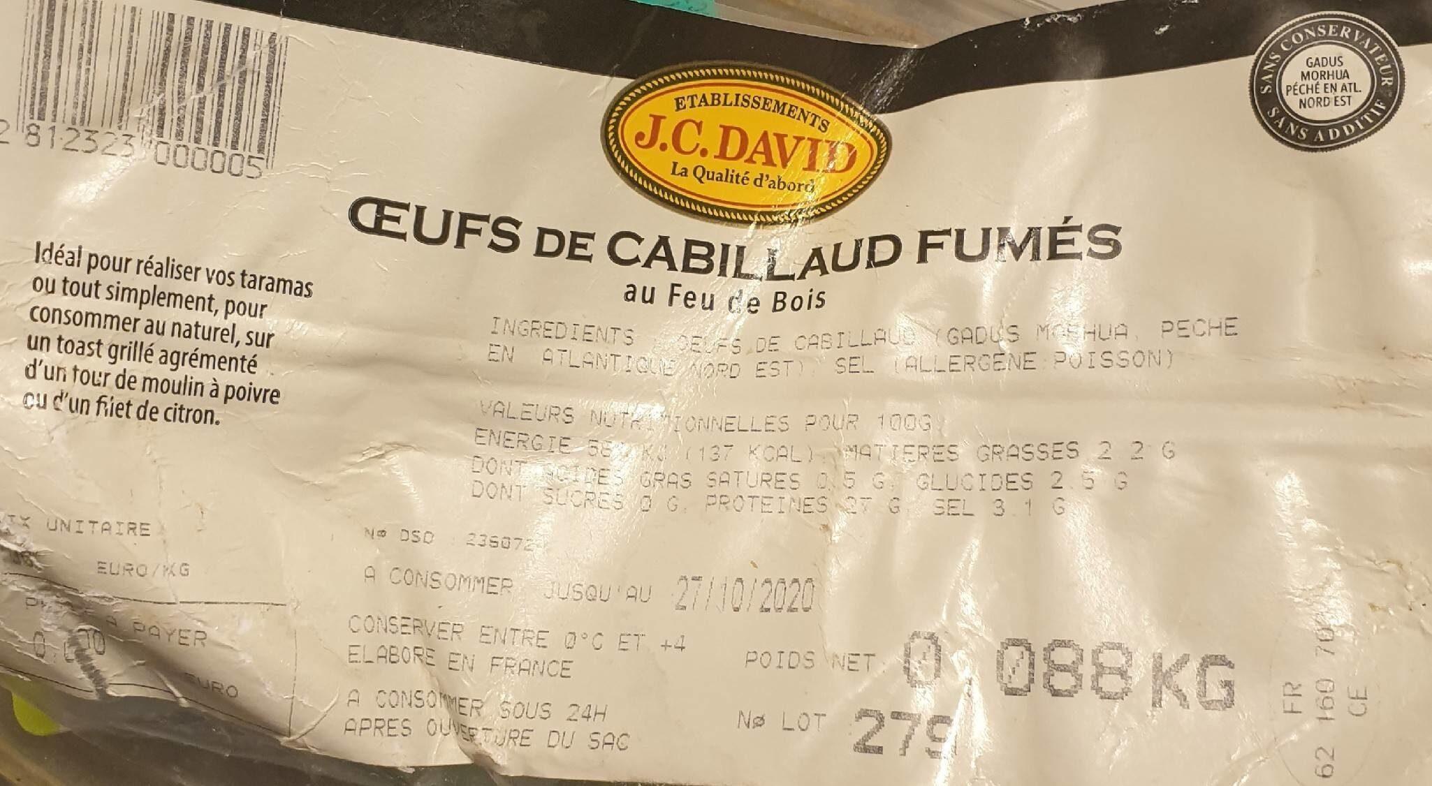 Oeufs de cabillaud fumés - Product - fr