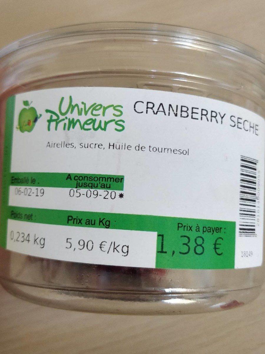 Cranberry seche - Product - fr