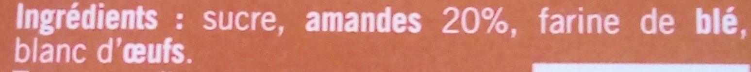 Petits soufflés Amandes - Ingrédients