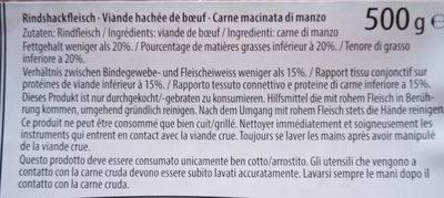 Viande hachée de boeuf - Ingrediënten - fr