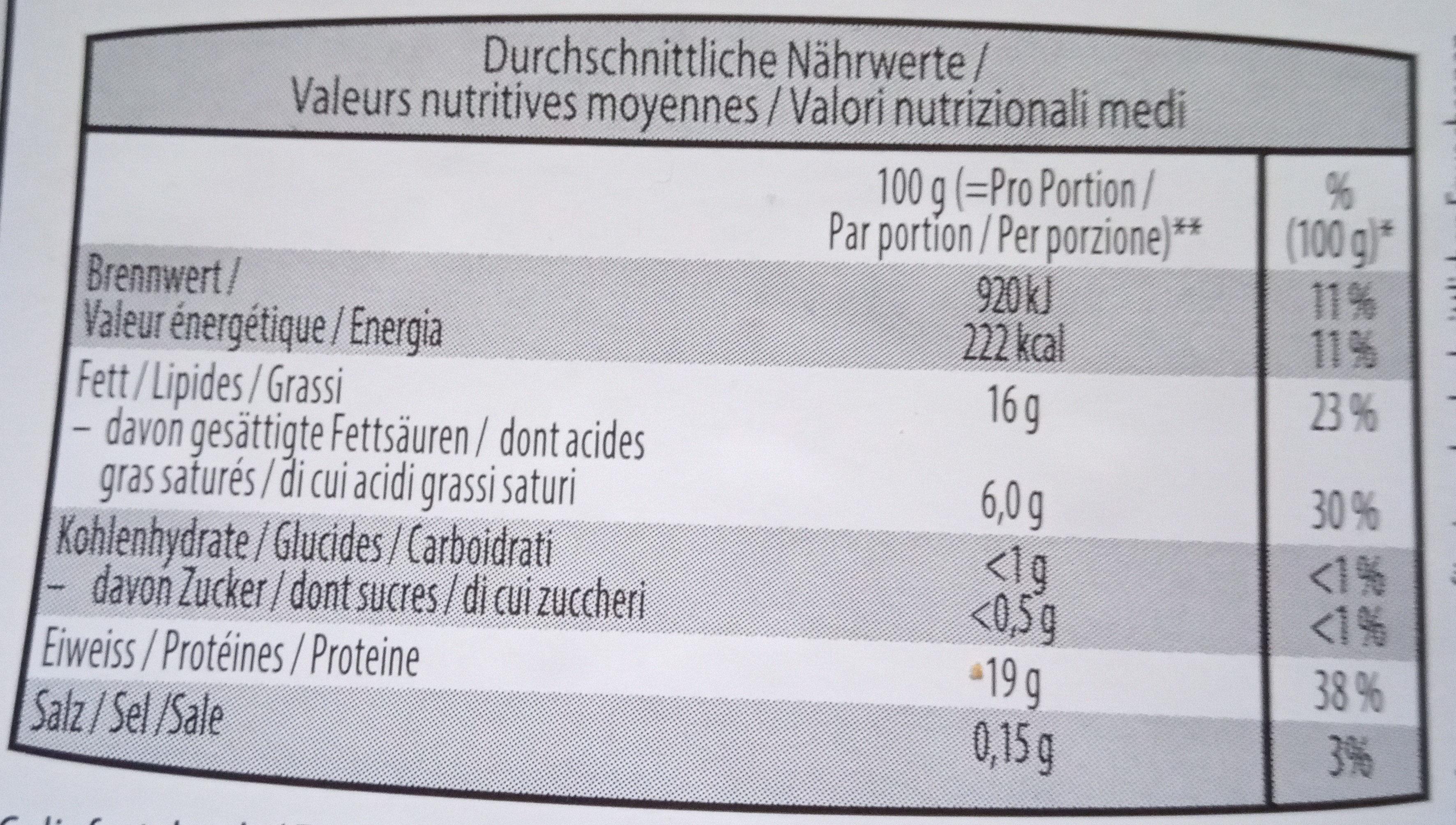 Viande hachée de boeuf - Voedingswaarden - fr
