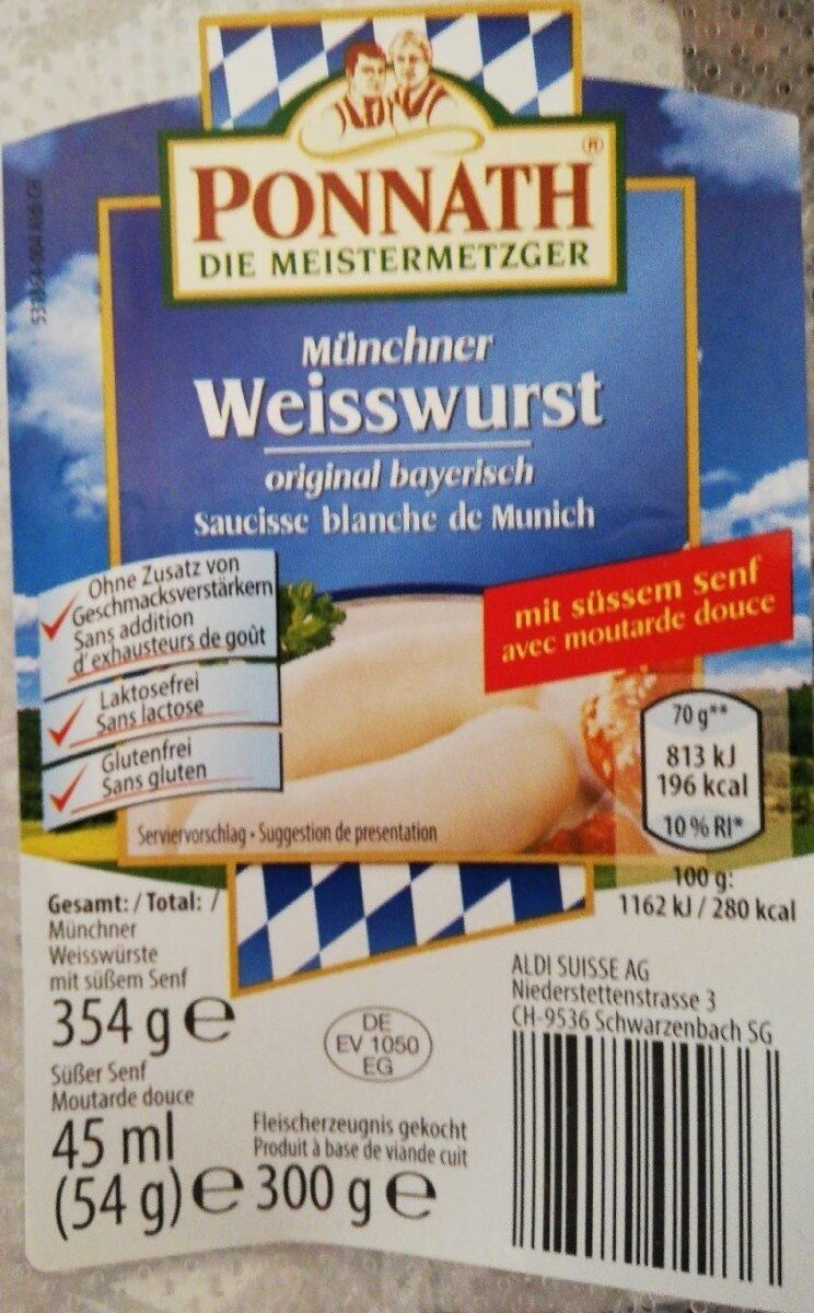 Münchner Weisswurst - Produit - fr