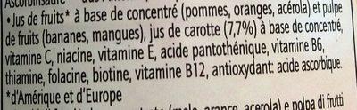 Multivitamin - Ingrediënten