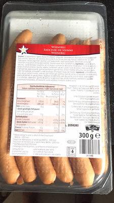 Saucisse de vienne(alpina) - Voedingswaarden