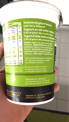 Bio Joghurt Nature, Nature - Informations nutritionnelles - fr