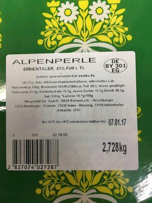 Emmentaler, 45% Fett i. Tr - Produkt