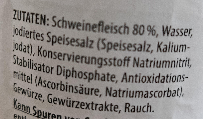 Schinkenwürstchen - Ingrediënten