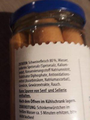 Schinkenwürstchen - Ingrédients