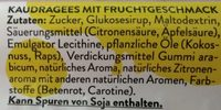fresh:air fruit flavor - Zutaten