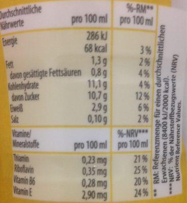 Milch Drink Bananen Geschmack - Informations nutritionnelles - fr
