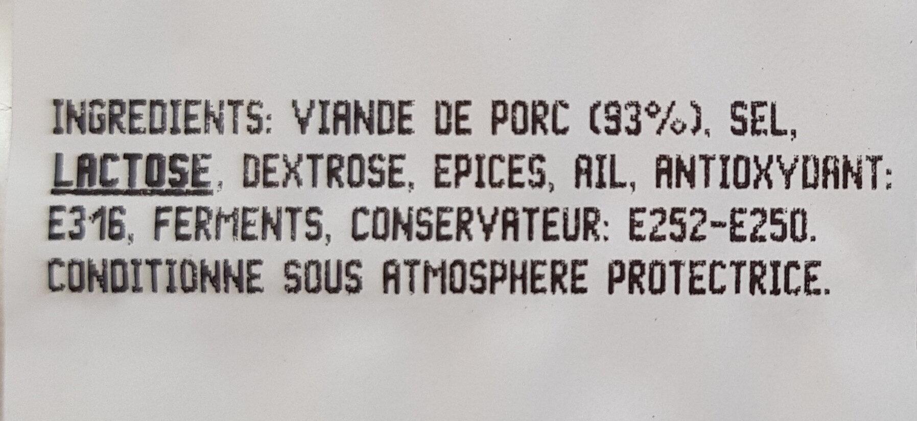 Chiffonnade de rosette - Ingrediënten