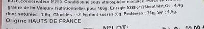 jambon cuit sup fumé porcilin - Informations nutritionnelles - fr