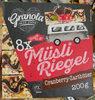 Müsli Riegel Cranberry-Zartbitter - Produit