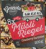 Müsli Riegel Cranberry-Zartbitter - Product